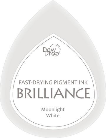 31350 Dew Drops Brilliance Inkpad Moonlight White.