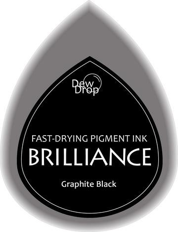 31351 Dew Drops Brilliance Inkpad Graphite Black.