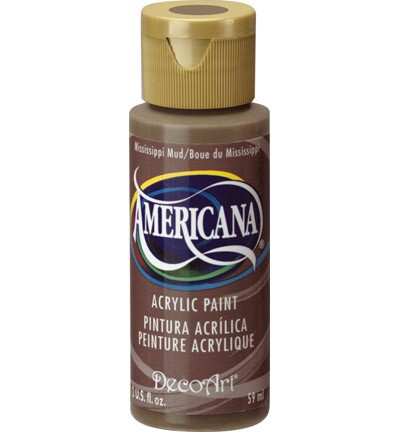 31415 Deco Art Americana Acrylverf 59 ML Mississippi Mud (DA094).