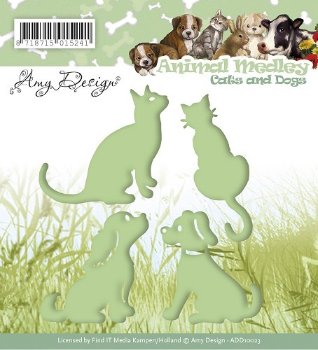 31597 Die - Amy Design - Animal Medley - Cats and Dogs (ADD10023).