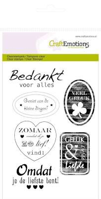 31711 CraftEmotions Clearstamps A6 - Tekst Labels Divers (NL).