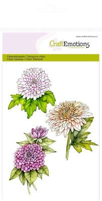 31731 Craft Emotions Clearstamps A6 - Chrysanten Tak Botanical Summer.