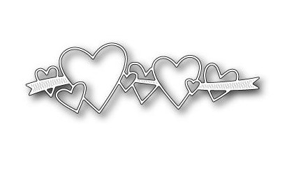 31798 Memory Box Die Heart Ribbon 11,7x3,6 cm.