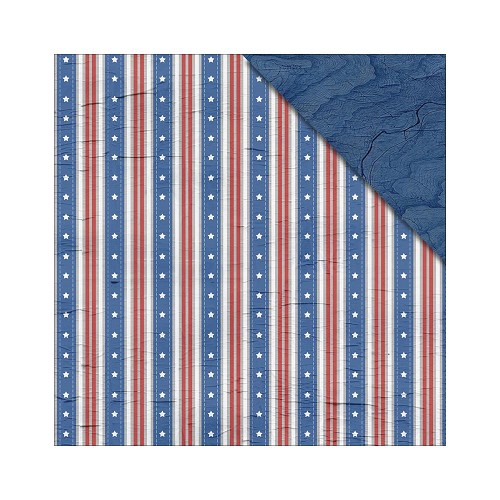 31972 Fabscraps Love 2 Travel Double Sided Paper 30,5x30,5 cm Stars and Stripes.