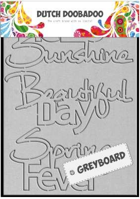 32097 Dutch Doobadoo Dutch Greyboard Hello Sunshine A6.