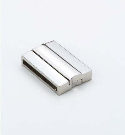 32157 Magnetic Cord Clasp Platinum 30x20mm inside 28x3 mm(12333-3301).