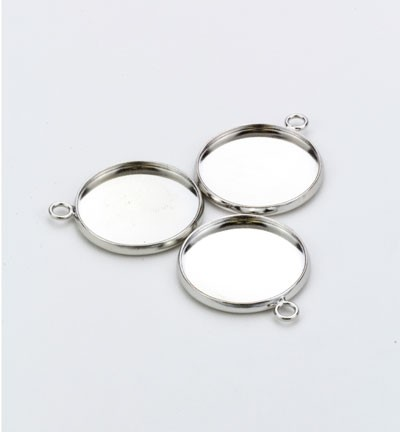 32193 Hanger with 1 Eye Round Top Platinum 3 Stuks 20mm (12332-3220).