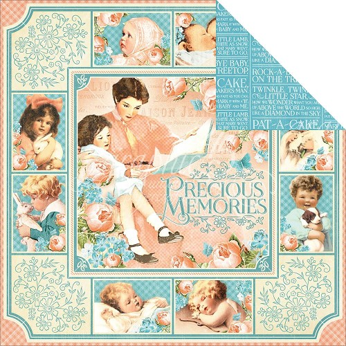 "32264 Graphic 45 Precious Memories Coll. 2-Sided Cardstock 12""X12""Precious Memories (4501083)."