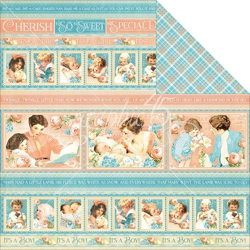 "32266 Graphic 45 Precious Memories Coll. 2-Sided Paper 12""X12""Cuttle Time (4501085)."