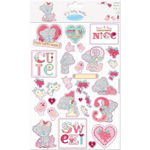 32408 Tiny Tatty Teddy Glitter Stickers Girl.