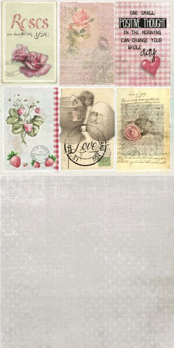 32458 Scrap Dubbelzijdig 12x12 10st Romance in Sweden Romance Labels.