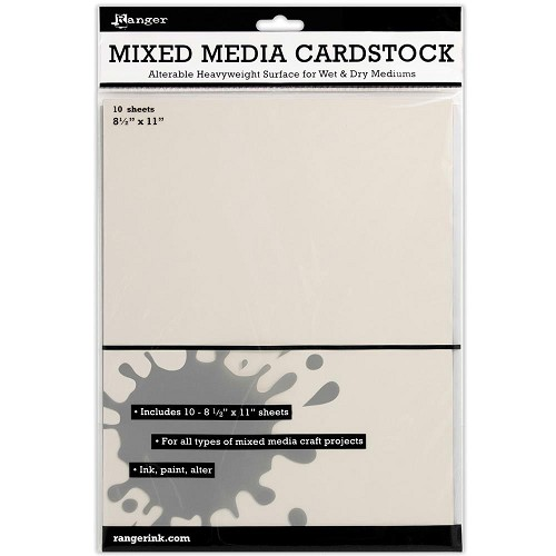 32509 Ranger Mixed Media Cardstock 10 Sheets A4 Gebroken Wit.