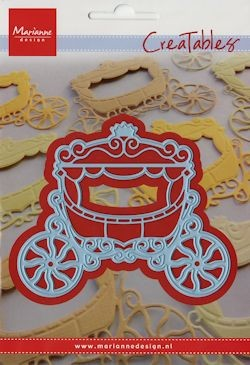 32768 Superkoopje Creatables Stencil Princess Carriage (LR0302).