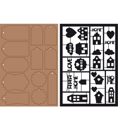 32787 Kraft Liner - Paper Tags and Houses Set 2pcs/A5.
