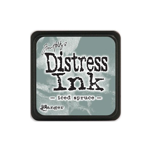 32934 Tim Holtz Distress Mini Ink Pad Iced Spruce.