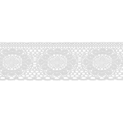 33104 Flat Creative Lace White 5 cm x 1 Meter.