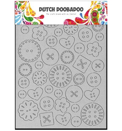 33564 Dutch Doobadoo  Greyboard Art Buttons.