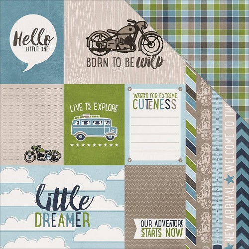 33740 Echo Park My Little Boy Double-Sided Paper Journaling Cards.