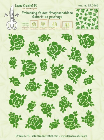 33985 LeCrea - Embossing Folder Background Roses (350966) 14,4x16cm.