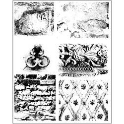 34292 Prima Marketing Finnabair Cling Stamps Dirty Walls 14x19 cm.