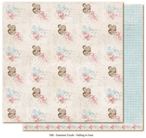 34326 Maja Design Summer Crush Double Sided Paper 30,5x30,5 cm Falling in Love.