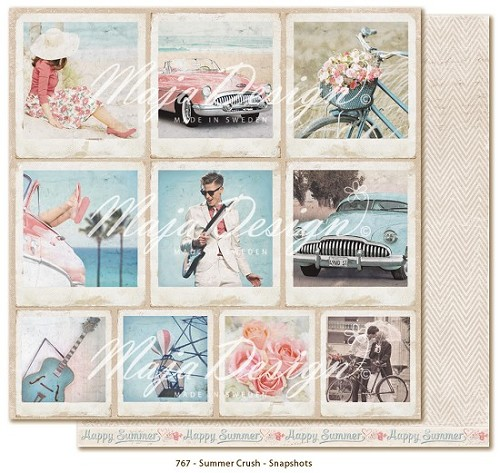 34333 Maja Design Summer Crush Double Sided Paper 30,5x30,5 cm Snapshots.