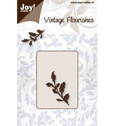 34468 Joy Crafts Cutting - Vintage Flourishes Holly (6003/0059).
