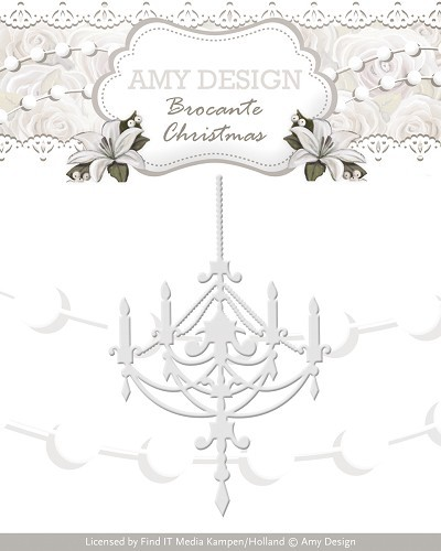 34560 Die - Amy Design - Brocante Christmas - Chandelier (ADD10034).