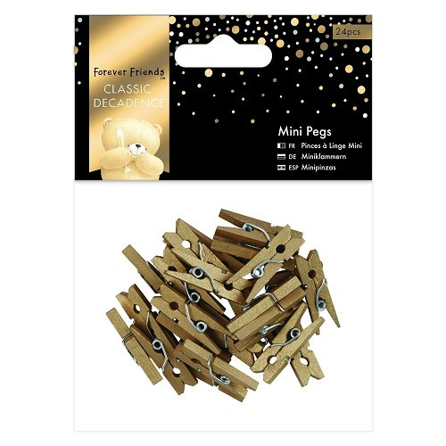 34626 Mini Pegs (24pcs) - Forever Friends - Classic Decadence - Gold.