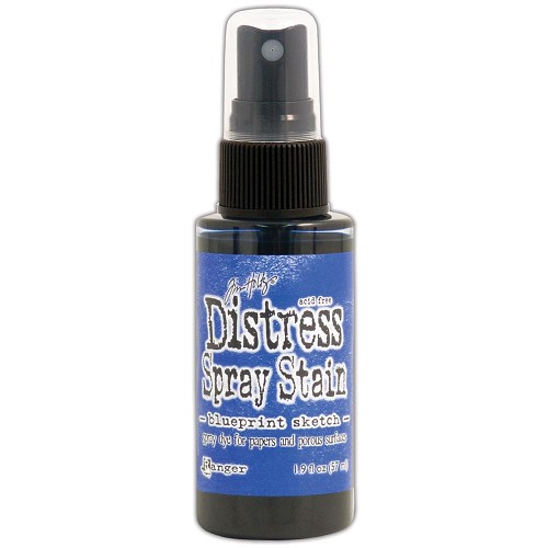 34747 Tim Holtz Distress Stain Spray  1.9oz July-Blueprint Sketch.