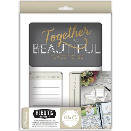 34815 We R Memory Keepers Journal Cards Wedding.