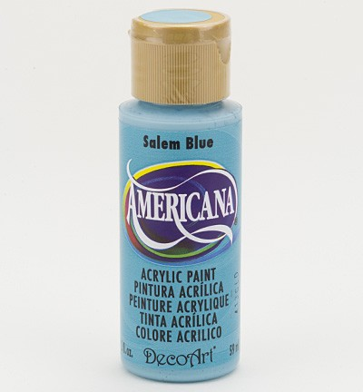 34822 Decoart Americana Acrylverf 59 ML Salem Blue (DA043).