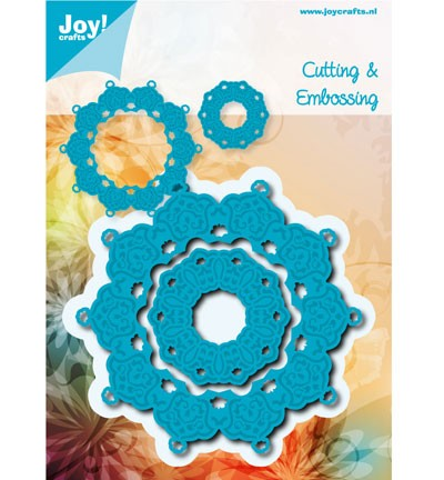 34882 Joy Crafts Cutting & Embossing Blauwe Mal Rond (6002/0458).