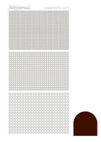 34972 Hobbydots Sticker -007 - Mirror Brown.