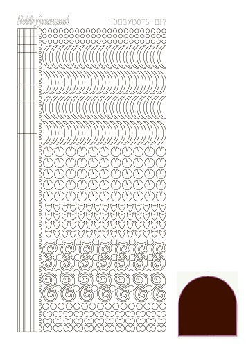 34979 Hobbydots Sticker -017 - Mirror Brown.