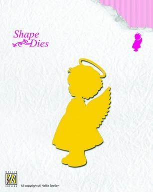 34981 Nellies Choice Shape Die - Angel Girl (SD074).