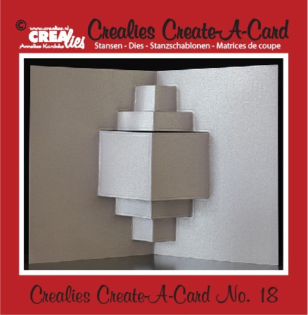 35829 Crealies Create A Card no. 18 stans voor kaart CCAC18.