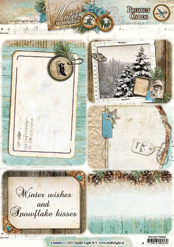 35856 Studio Light Project Cards A4 Winter Memories PROJECTWM04.