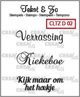 35897 Crealies Clearstamp Tekst&Zo Divers 2 NL (CLTZD02).