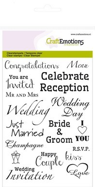 35925 CraftEmotions Clearstamps A6 - Tekst UK Wedding.