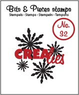 35928 Crealies Clearstamp Bits & Pieces no. 32 Snowflake 2 (CLBP32).