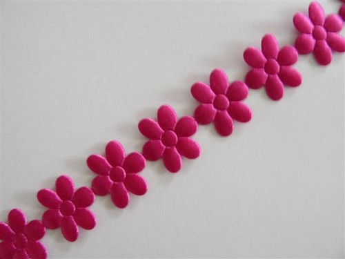 35975 Flower Ribbon 12mm x 1 Meter Fuchsia.