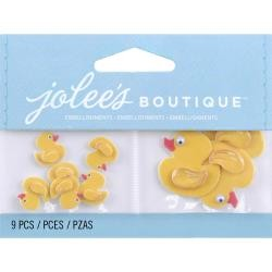36046 Jolee`s Boutique Dimensional Embellishments 9/Pkg Mini Rubber Duckies.