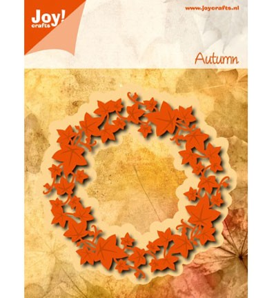 36187 Joy Crafts Cutting & Embossing Klimop Krans 100x100 mm Ø (6002/0457).
