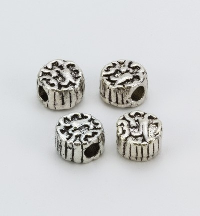 36432 Hobby Crafting Fun Beads Platinum 4 Stuks (10303-9241).