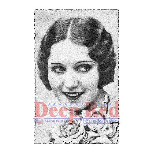 36440 Deep Red Cling Stamp Vintage Glamour 6x9 cm.