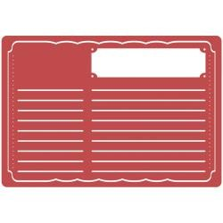 36592 Sizzix Textured Impressions A6 Embossing Folder Recipe Card.