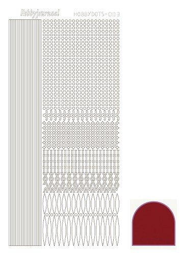36667 Hobbydots Serie 003 Mirror Red.