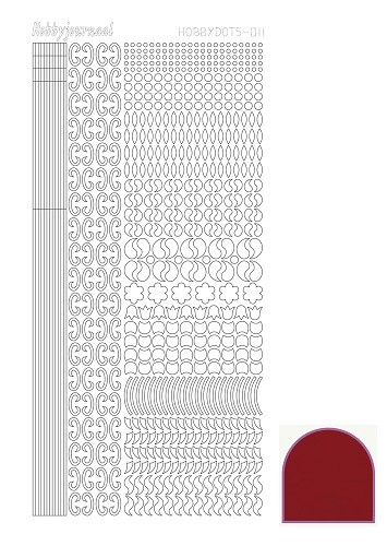 36684 Hobbydots Serie 011 Mirror Red.