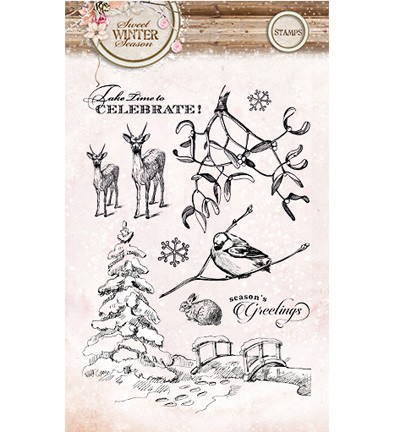 36727 Studio Light » Stamps Sweet Winter Season (sws120).